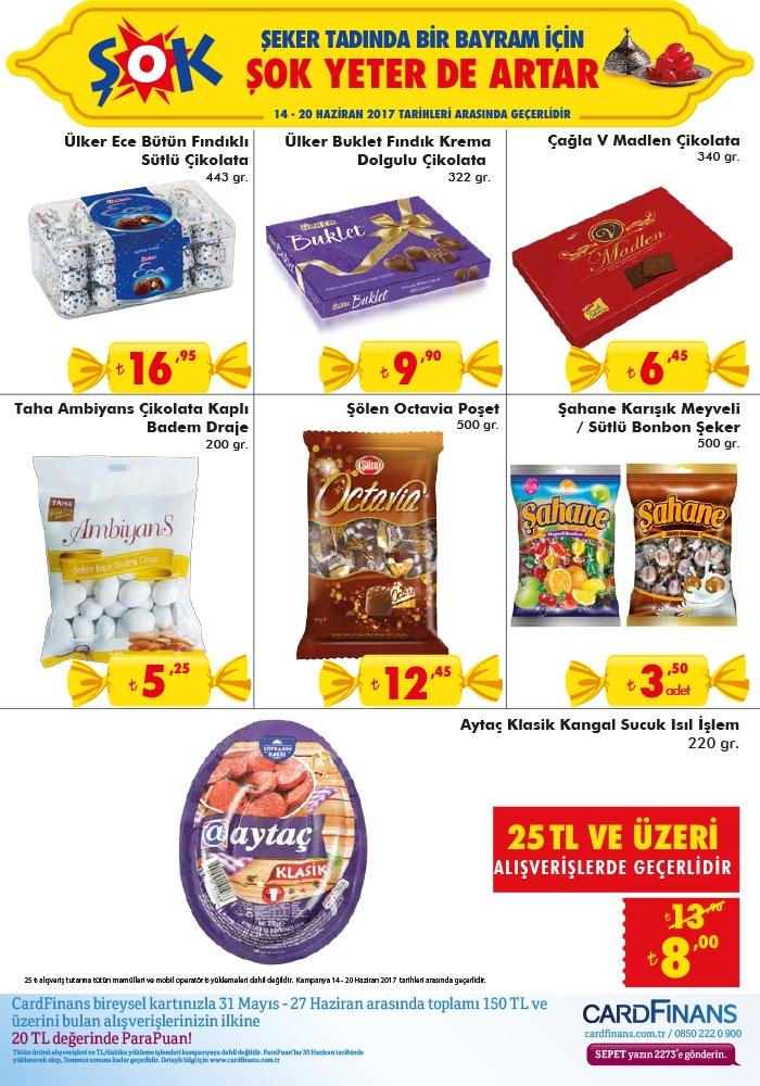 ŞOK Market 14 - 20 Haziran 2017 aktüel ürünler kataloğu broşürü