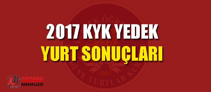 KYK yedek yurt başvuru sonuçları 2017 Sorgulama sonuc.kyk.gov.tr