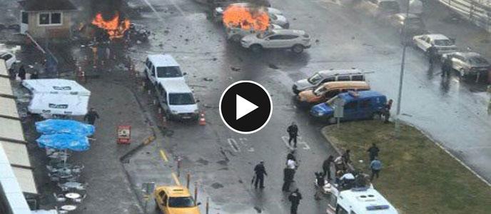 İzmir Adliyesi bomba patlaması! çatışma ve patlama anı video izle son dakika haberleri