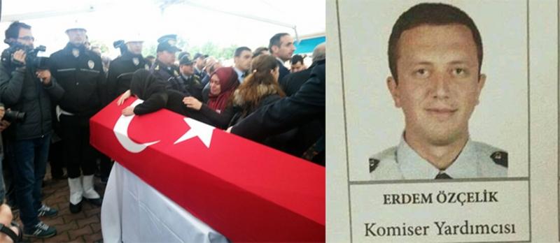 Şamlarlı Şehit Polis Erdem Özçelik son yolculuğuna uğurlandı