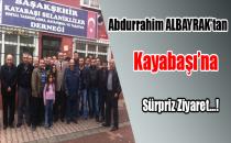 Abdurrahim Albayrak'tan Kayabaşı'na sürpriz ziyaret