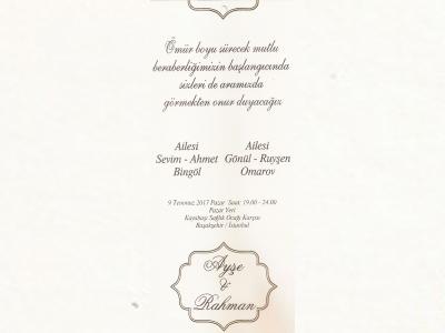 Ayşe ile Rahman'ın düğün töreni