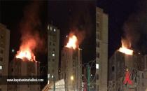 Başakşehir Kayaşehir'de korkutan yangın