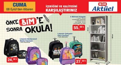 BİM Aktüel Ürünler 8 Eylül /12 Eylül 2017 Kataloğu Okul Malzemeleri (Kaçta açılıyor Kapanıyor? Açılış Kapanış Saati Çalışma saatleri)