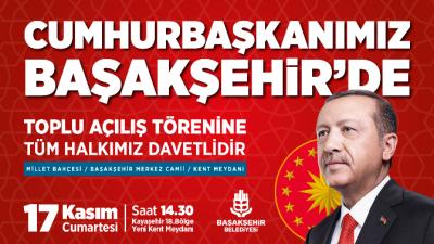 Erdoğan, TOKİ'nin Kayaşehir'de yaptığı Millet Bahçesi'ni hizmete açacak