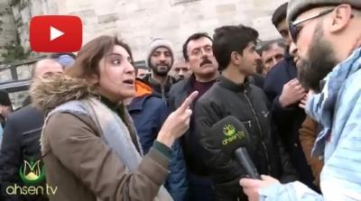 Ahsen misin Milli Piyango haram diyen! Atatürk ve Cumhuriyet düşmanı Ahsen Tv muhabiri zor sıyırdı