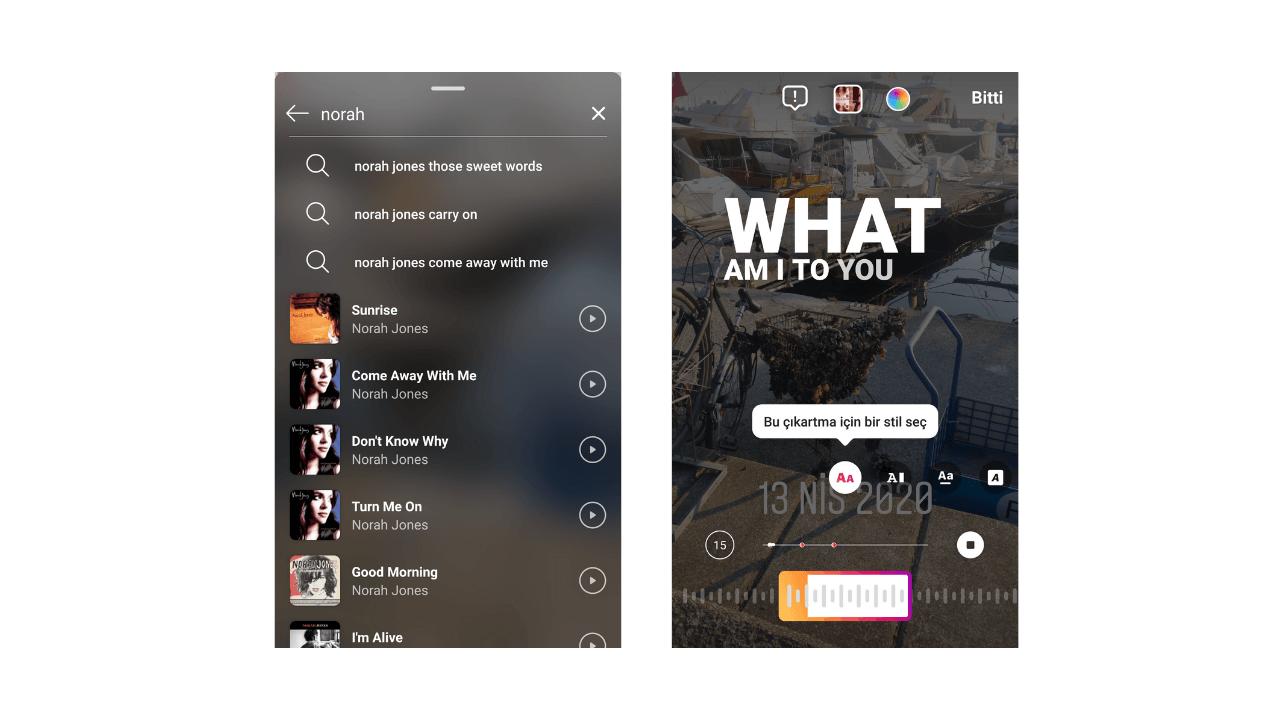Instagram müzik etiketi dönemi başladı