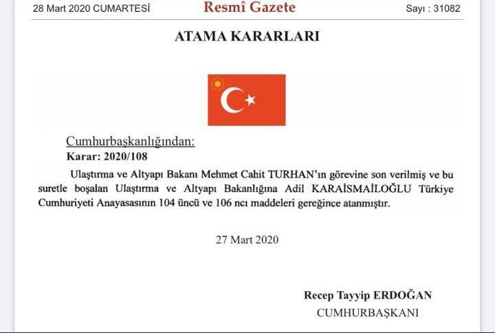 Kanal İstanbul İhalesi Ulaştırma Bakanı Mehmet Cahit Turhan'ın Başını Yaktı!
