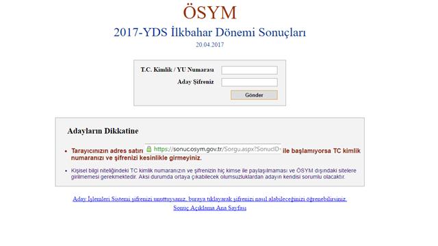 2017 YDS Sonuçları ÖSYM Tarafından Açıklandı! Giriş Sonuç Yabancı Dil Sınavı Cevap Anahtarı Soruları