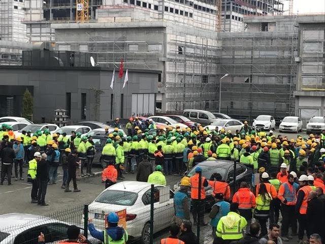 Başakşehir Şehir Hastanesi inşaatındaki işçiler sonunda çıldırdı!