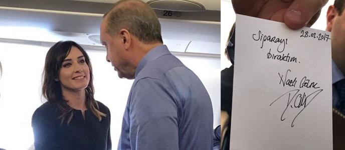 Nazlı Çelik sigara içmeyecek; Erdoğan'a imza verdi!