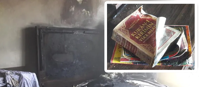 İtfaiye Şokta: Samsun Bafra'da Ev Küle Döndü Ama Kuran-ı Kerim'e Bir Şey Olmadı!