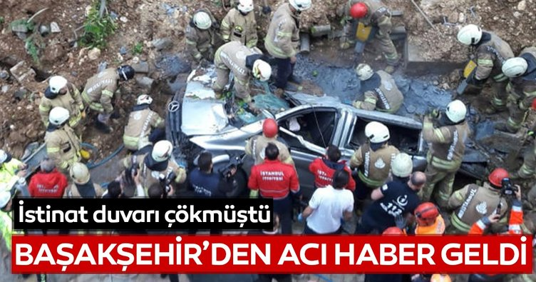 Kayabaşı Bahçetepe'de çöken istinat duvarı bir vatandaşa mezar oldu