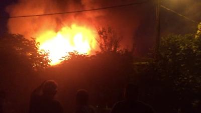 Başakşehir Kayabaşı'nda tek katlı binada korkutan yangın