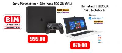 BİM Aktüel Ürünler Kataloğu 2 Haziran 2017 (Hometech HTBOOK - PS4 Sony Playstation 4) Fiyatları