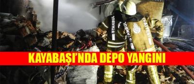 Kayabaşı'nda depo yangını