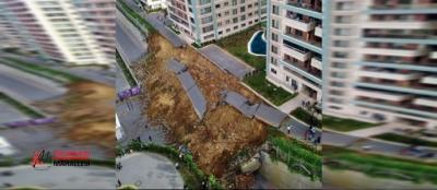 Kayaşehir Bulvar İstanbul'da istinat duvar çöktü! Son Dakika Haberleri